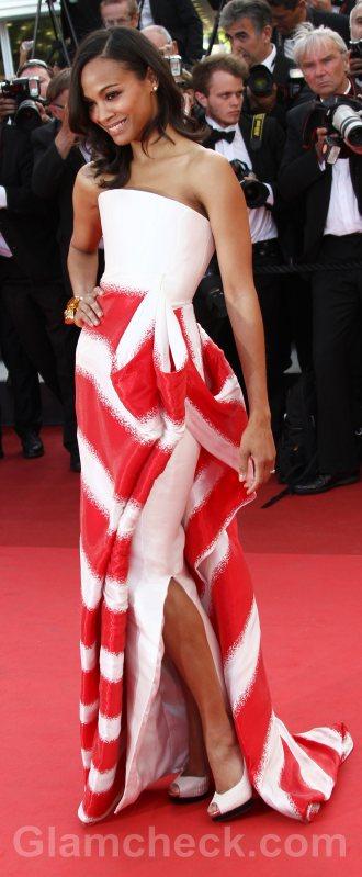 Worst dressed celebrities Zoe Saldana cannes 2011