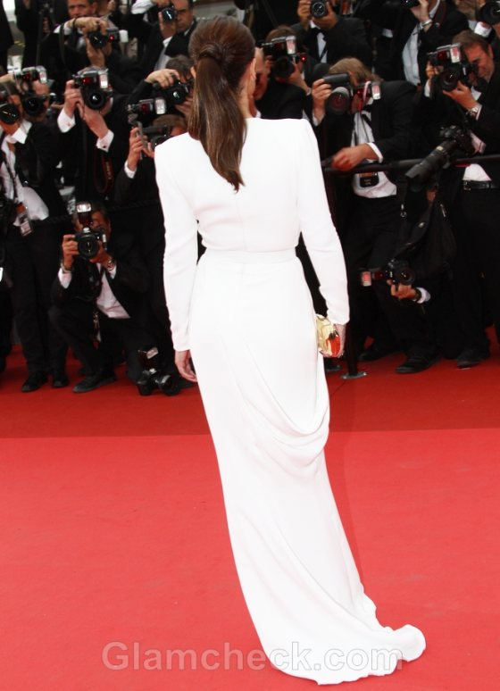 cheryl cole long white gown 2011 cannes film festival