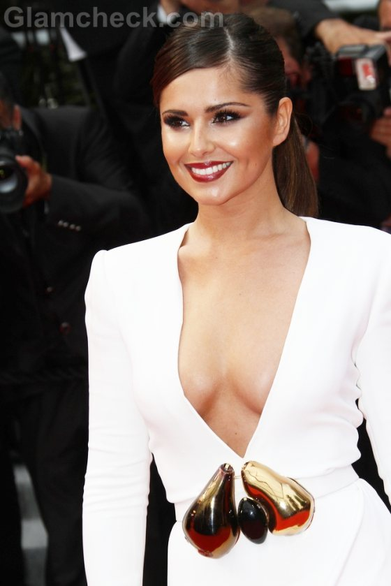 cheryl cole white gown 2011 cannes film festival