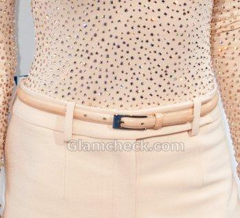 sleek neutral leather belt