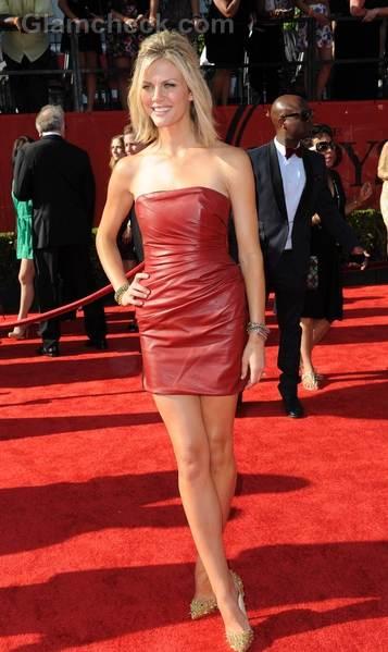 Broolyn Decker red leather dress ESPY Awards 2011