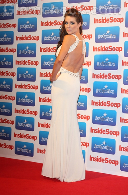 Nicola-McLean-white-gown-Inside-Soap-Awards-2011