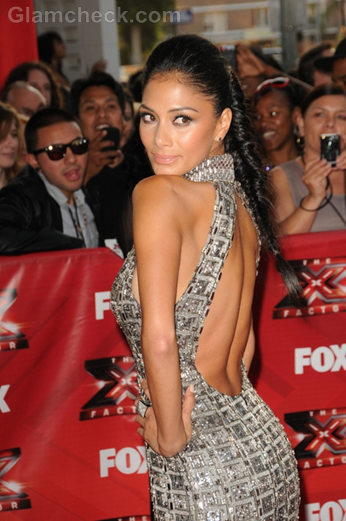 Nicole-Scherzinger-Metallic-Gown-The-X-Factor