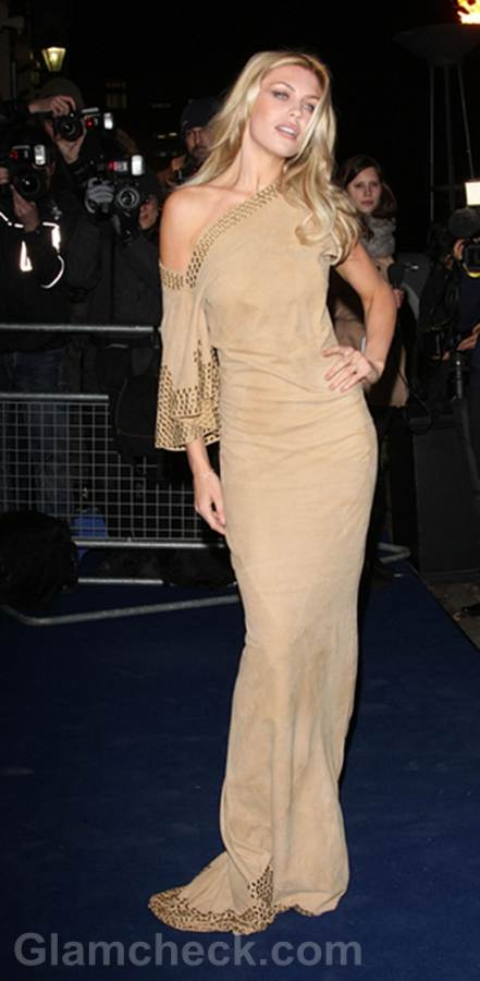 Abbey Clancy Stunning in Suede at BFAs 2011