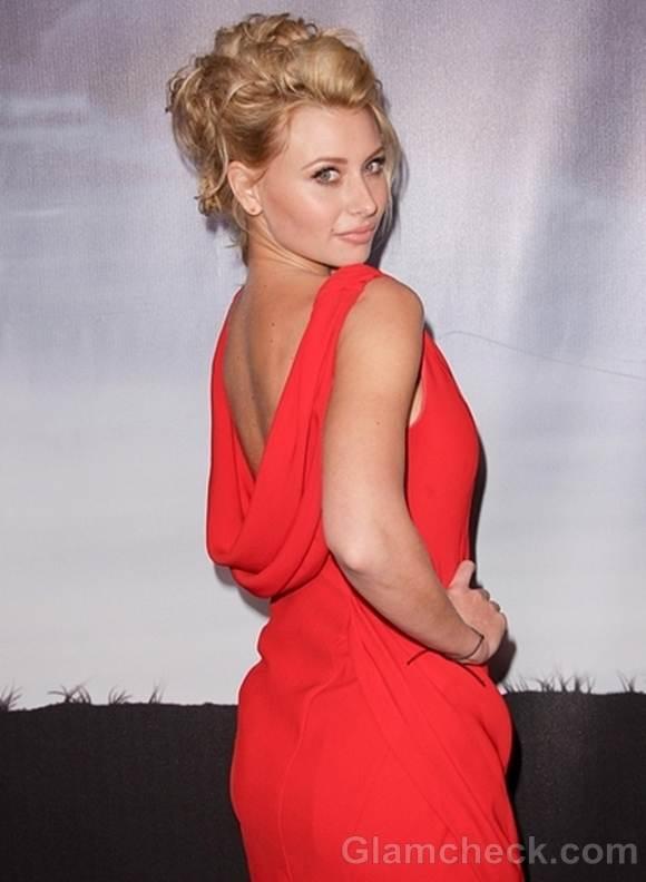 Aly Michalka red Sheath Dress