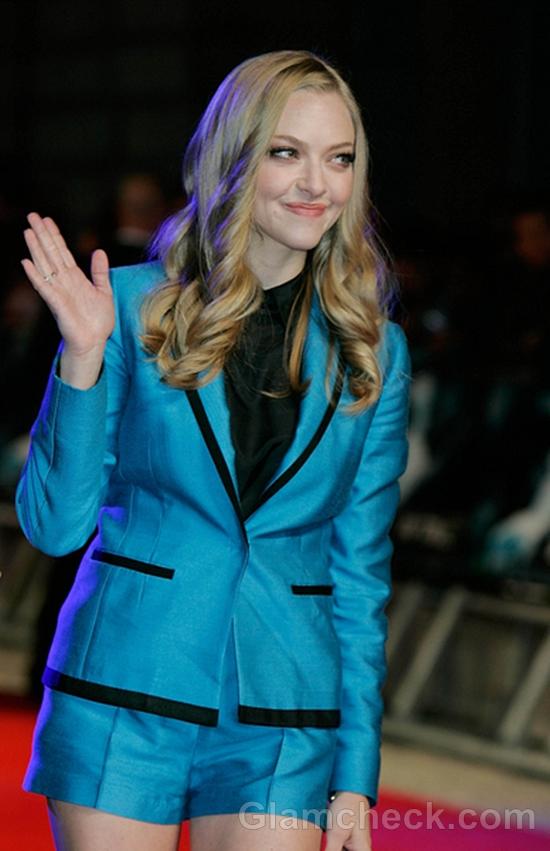 Amanda-Seyfried-in-Metallic-Blue-Shorts-In-Time-UK-Premiere