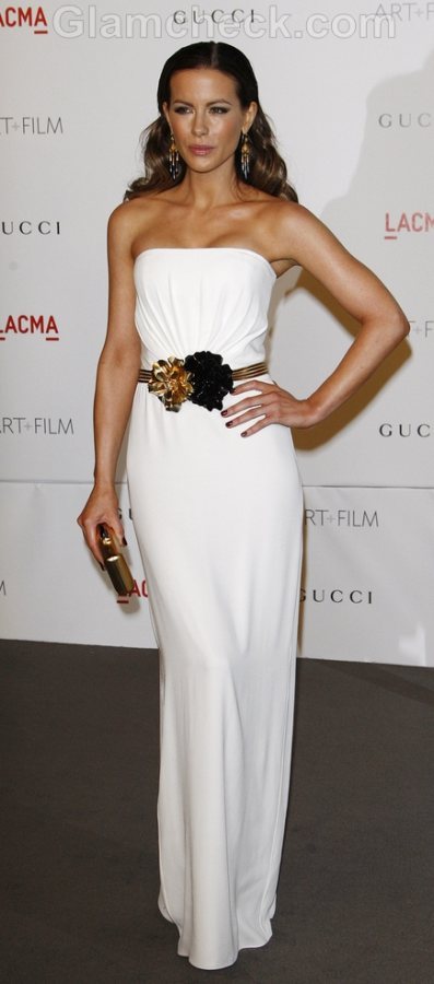 Kate Beckinsale  Gucci white gown  LACMA Gala