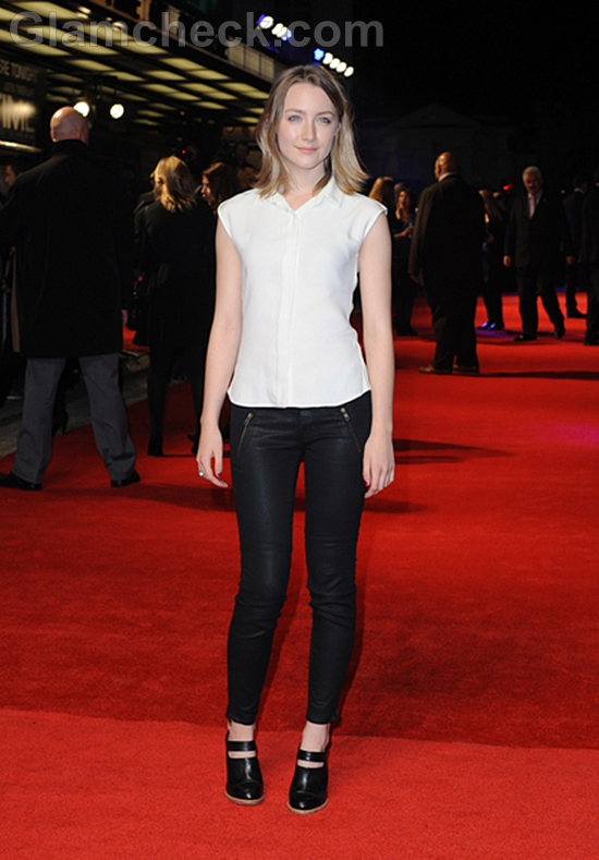 Saoirse-Ronan-in-Black-and-White-outfit-In-Time-UK-Premiere