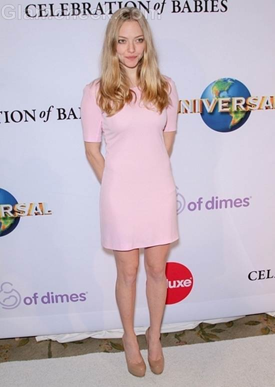 Amanda Seyfried  Pink Dress at March of Dimes Luncheon
