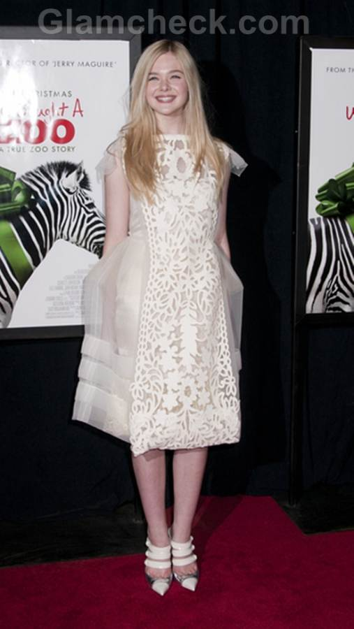 Elle Fanning dress at We Bought a Zoo Premiere