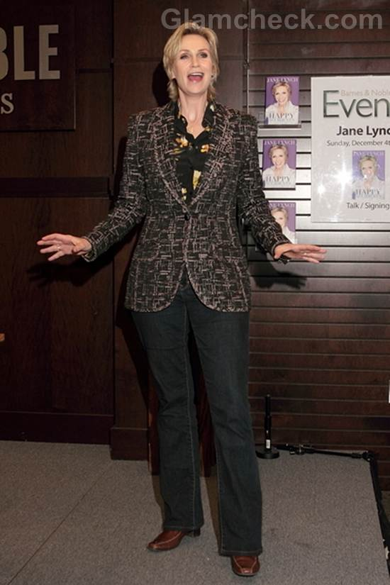 Jane Lynch Signs Copies Happy Accidents