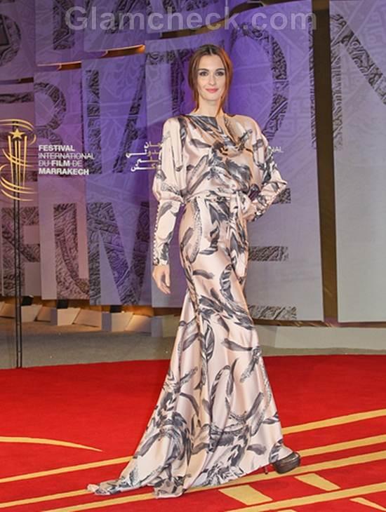 Paz Vega Elegant   Pink Gown Texas Killing Fields Premiere