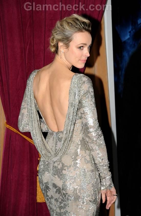 Rachel McAdams Silver Gown at Sherlock Holmes Premiere