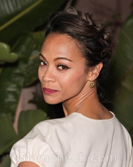 Zoe Saldana in Casual Chic Outfit at Charity Do