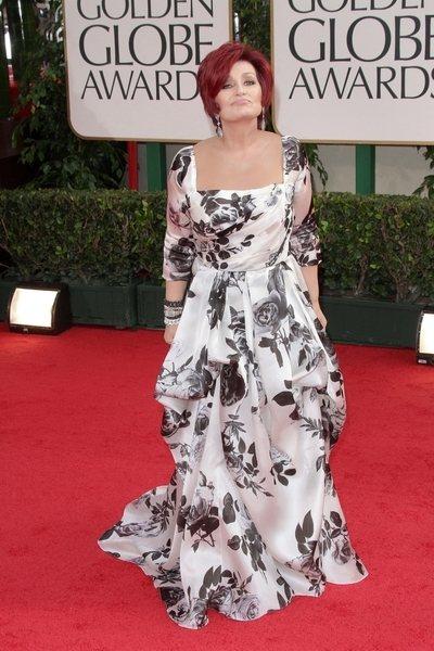 2012 golden globe awards worst dressed Sharon Osbourne