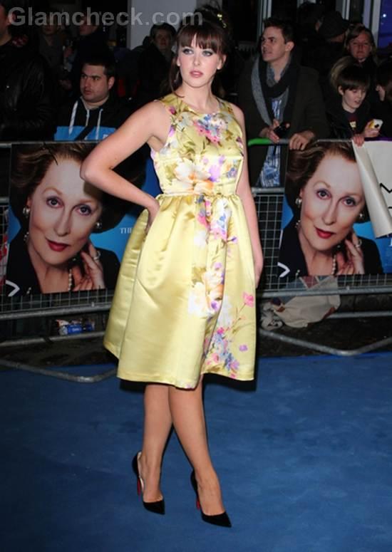 Alexandra Roach  60s Dress Iron Lady Premiere