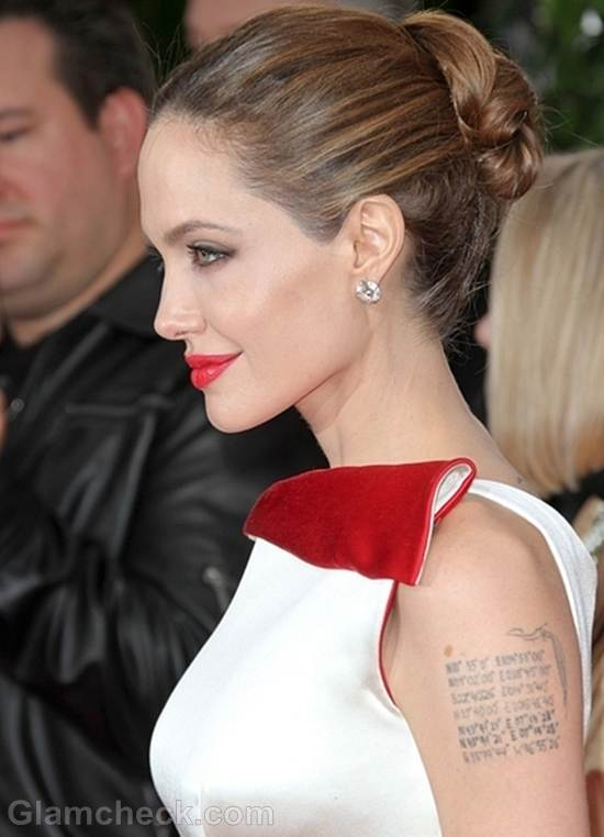 Angelina Jolie at 2012 Golden Globe Awards
