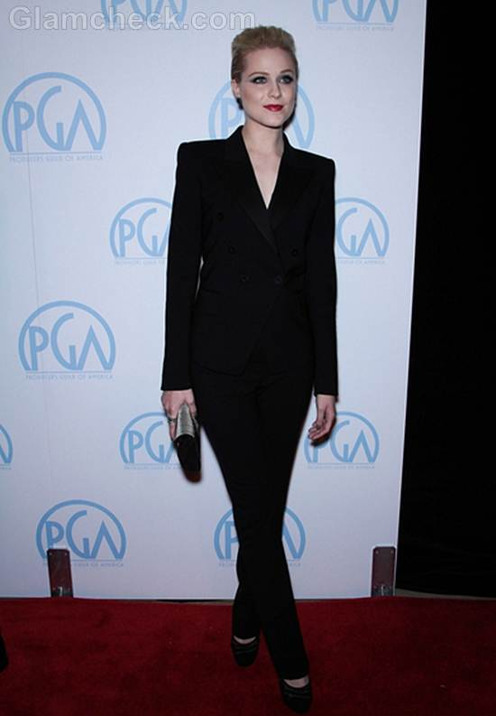 Evan Rachel Wood Dons Classy Androgynous Outfit at PGAs