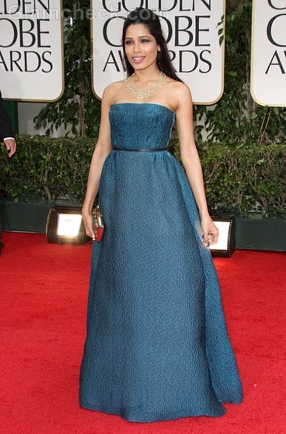 Freida Pinto 2012 Golden Globe Awards