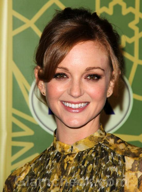 Jayma Mays Silk Dress for All-Star Party