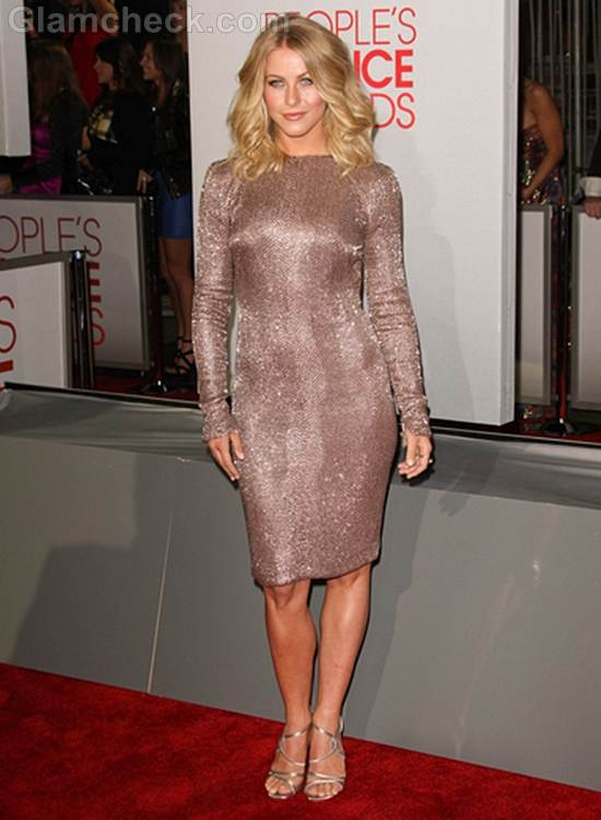 Julianne Hough Backless Dress Peoples Choice Awards