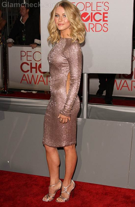 Julianne Hough Backless Dress at Peoples Choice Awards