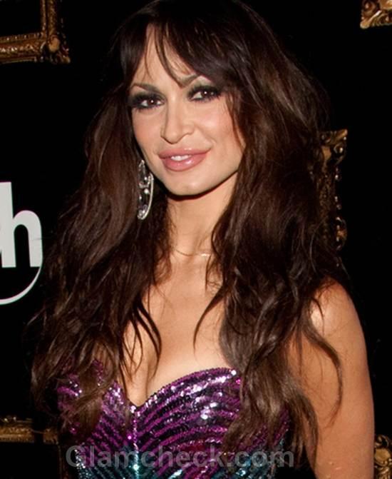 Karina Smirnoff Shines in Sparkly Sheath Dress at Bday Party