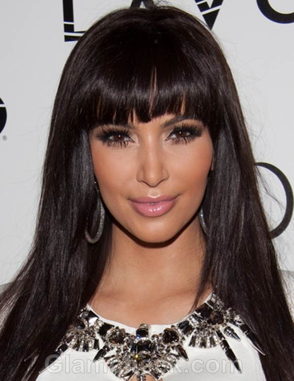 Kim Kardashian White Dress on New Years Eve party