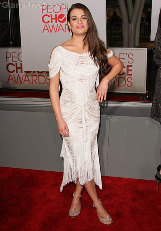Lea Michelle White Dress 2012 Peoples Choice Awards