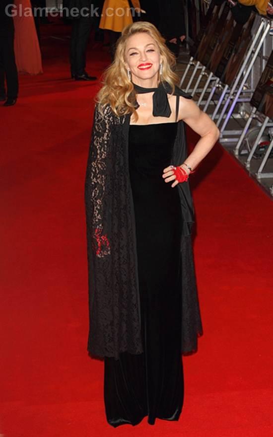 Madonna Black Gown W E UK Premiere