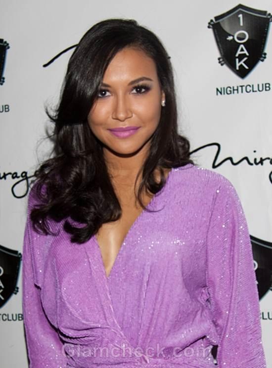 Naya Rivera Rings in Her B'Day In Sexy Purple Dress