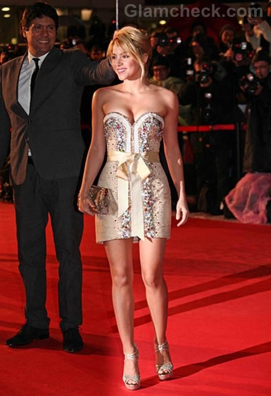 Shakira jewelled corset mini dress  NRJ music awards