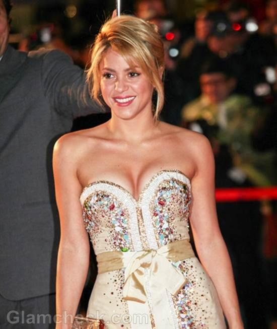 Shakira jewelled corset mini dress for NRJ music awards