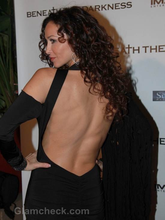 Sofia Milos Black Backless Dress
