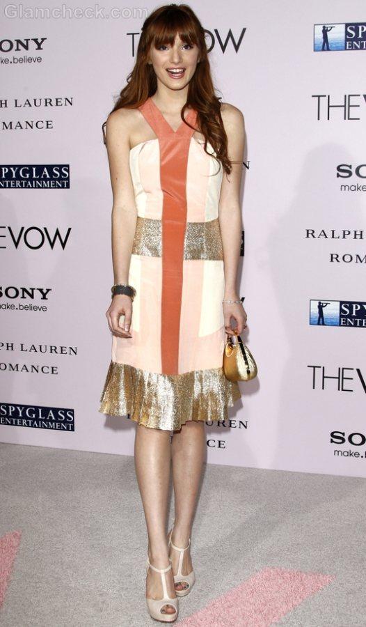 Bella Thorne in halterneck dress The Vow Premiere