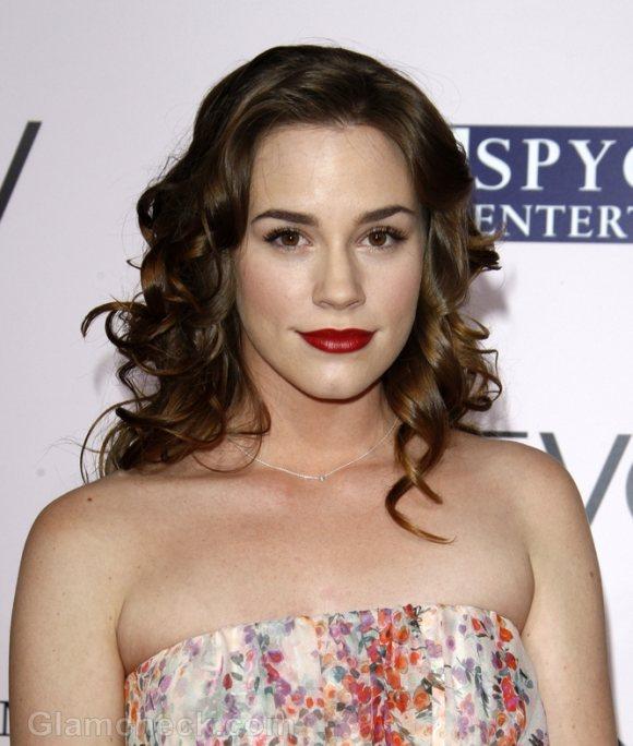 Christa B Allen rocks off-shoulder frock The Vow Premiere