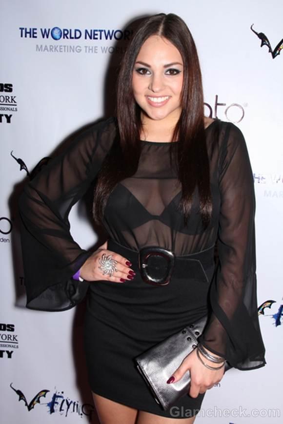 Daniella Ruiz In Revealing black Blouse at SAG Afterparty