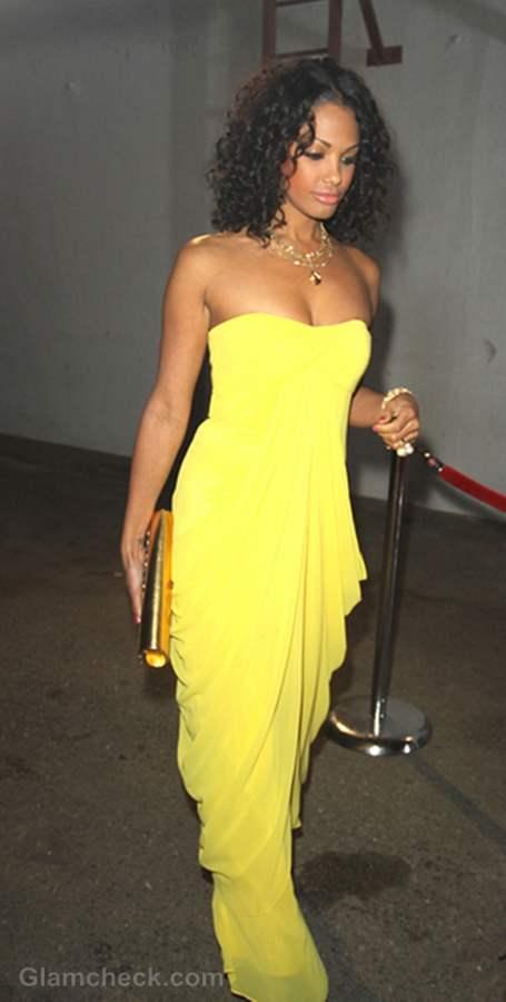 K D Aubert Yellow Evening Gown