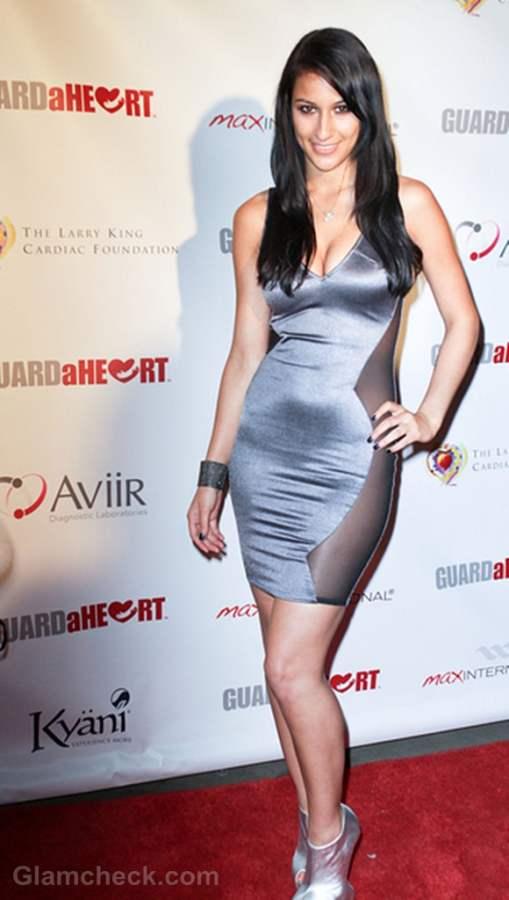 Lexy Panterra Figure-Hugging Silver Dress