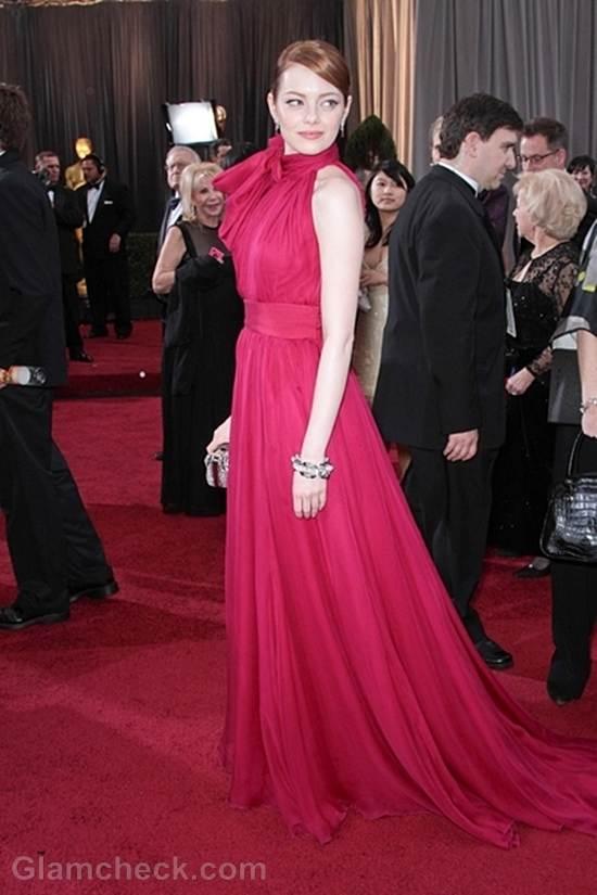 Oscars 2012 best dressed Emma Stone