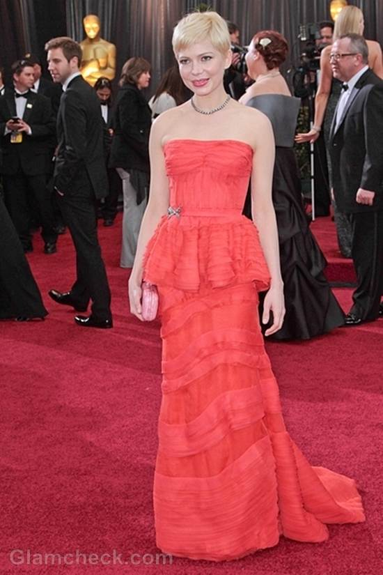 Oscars 2012 best dressed Michelle Williams