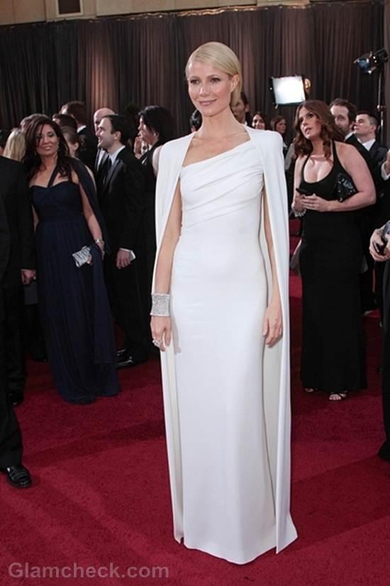 Oscars 2012 celebrities white gowns Gwyneth Paltrow