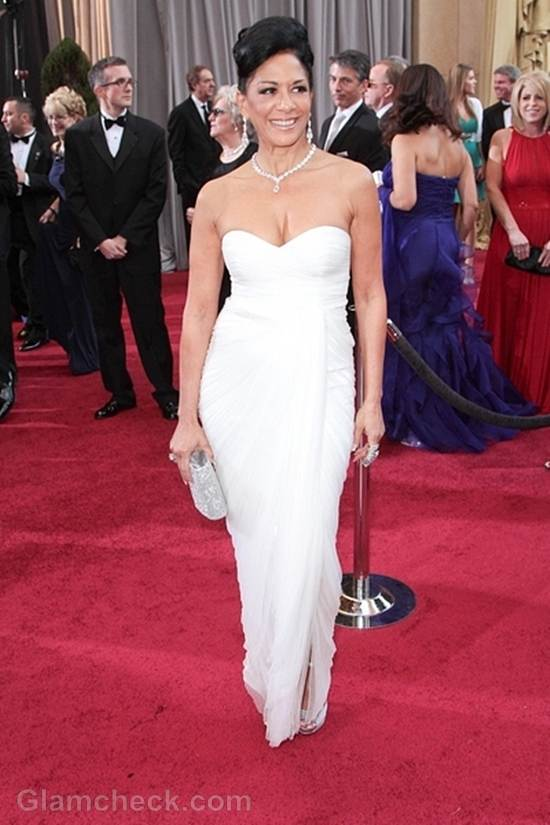 Oscars 2012 celebrities white gowns Sheila E