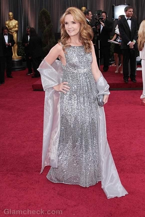 Oscars 2012 worst dressed Lea Thompson