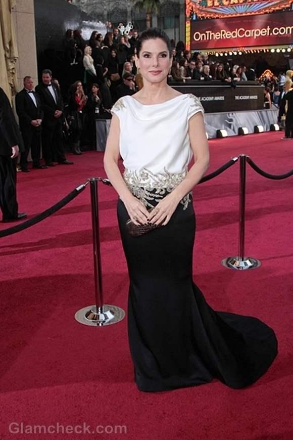 Oscars 2012 worst dressed Sandra Bullock
