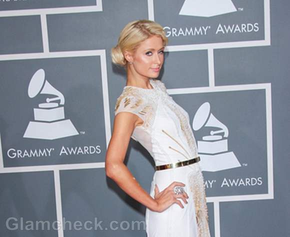 Paris Hilton 2012 grammy awards