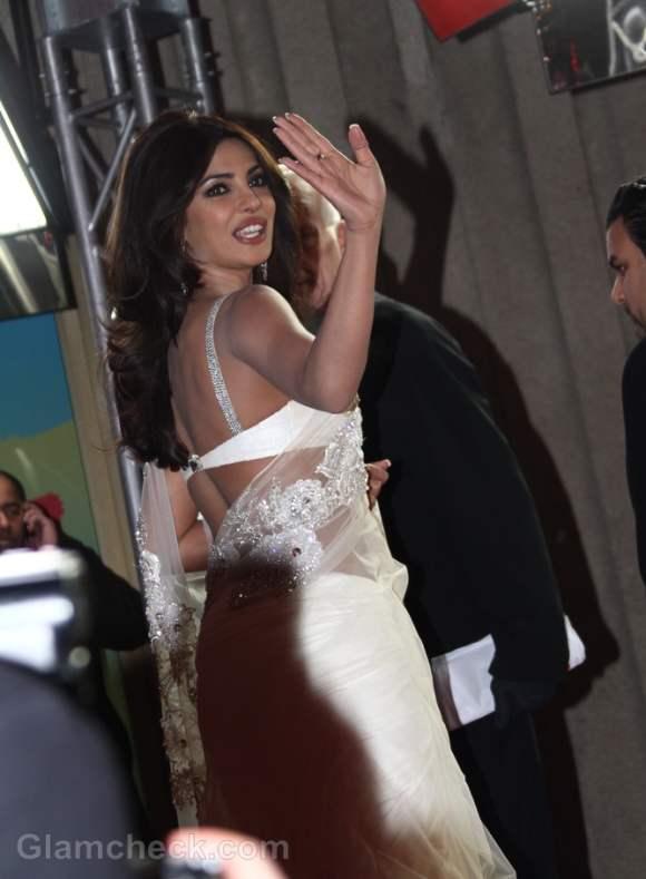 Priyanka Chopra white sari Don