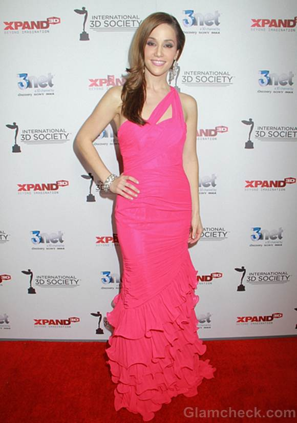 Stuart Brazell Pink Gown at Awards Show