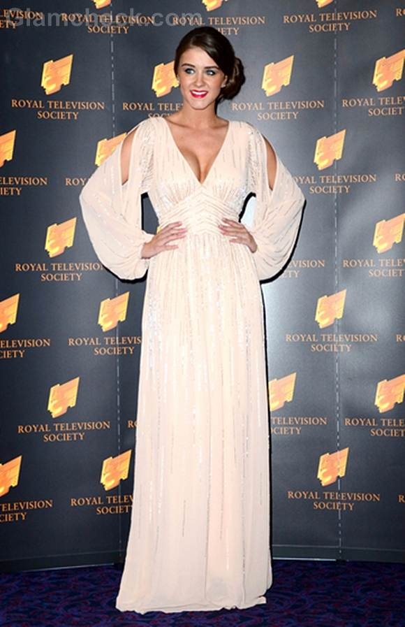 Brooke Vincent Dons Cleavage-baring Gown to Awards Show