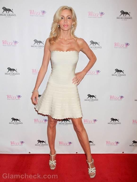 Camille Grammer Sensational in Bandage Dress
